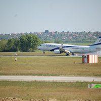 El AL Israel, Tel Aviv - Budapet repülőjárat ( repülőgép típus: Boeing 737-8HX, felségjel: 4X-EKF)