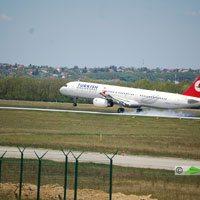Turkish Airlines, Istambul - Budapest repülőjárat ( repülőgép típus: Airbus A321-231, felségjel: TC-JRL)